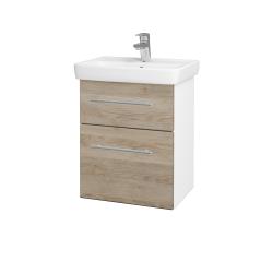Dřevojas - Koupelnová skříň GO SZZ2 50 - N01 Bílá lesk / Úchytka T02 / D17 Colorado (204518B)