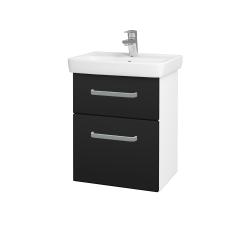 Dřevojas - Koupelnová skříň GO SZZ2 50 - N01 Bílá lesk / Úchytka T01 / N08 Cosmo (204563A)