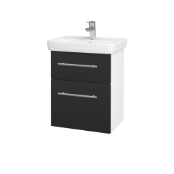 Dřevojas - Koupelnová skříň GO SZZ2 50 - N01 Bílá lesk / Úchytka T02 / N03 Graphite (204617B)