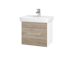 Dřevojas - Koupelnová skříň SOLO SZZ 50 - N01 Bílá lesk / Úchytka T03 / D17 Colorado (205331C)