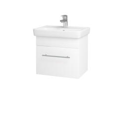 Dřevojas - Koupelnová skříň SOLO SZZ 50 - N01 Bílá lesk / Úchytka T02 / M01 Bílá mat (205348B)