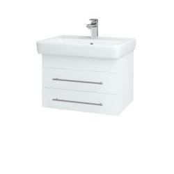 Dřevojas - Koupelnová skříň Q ZÁSUVKOVÉ SZZ2 60 - N01 Bílá lesk / Úchytka T02 / L01 Bílá vysoký lesk (72721B)