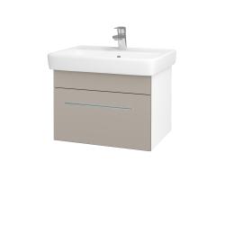 Dřevojas - Koupelnová skříň Q UNO SZZ 60 - N01 Bílá lesk / Úchytka T02 / N07 Stone (208585B)