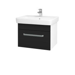 Dřevojas - Koupelnová skříň Q UNO SZZ 60 - N01 Bílá lesk / Úchytka T01 / N08 Cosmo (208592A)