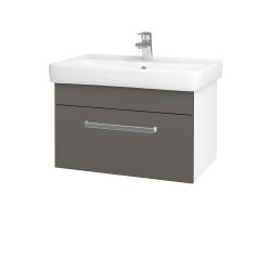Dřevojas - Koupelnová skříň Q UNO SZZ 70 - N01 Bílá lesk / Úchytka T01 / N06 Lava (208776A)