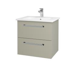 Dřevojas - Koupelnová skříň GIO SZZ2 60 - M05 Béžová mat / Úchytka T03 / M05 Béžová mat (202019C)