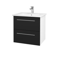 Dřevojas - Koupelnová skříň GIO SZZ2 60 - N01 Bílá lesk / Úchytka T02 / N08 Cosmo (202095B)