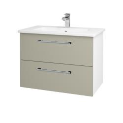 Dřevojas - Koupelnová skříň GIO SZZ2 80 - N01 Bílá lesk / Úchytka T03 / M05 Béžová mat (202217C)