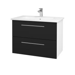 Dřevojas - Koupelnová skříň GIO SZZ2 80 - N01 Bílá lesk / Úchytka T02 / N08 Cosmo (202255B)