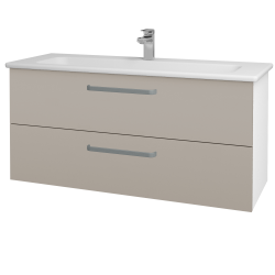 Dřevojas - Koupelnová skříň GIO SZZ2 120 - N01 Bílá lesk / Úchytka T01 / N07 Stone (203016A)