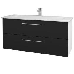 Dřevojas - Koupelnová skříň GIO SZZ2 120 - N01 Bílá lesk / Úchytka T02 / N08 Cosmo (203023B)