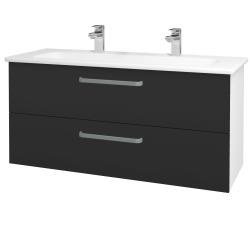Dřevojas - Koupelnová skříň GIO SZZ2 120 - N01 Bílá lesk / Úchytka T01 / N03 Graphite (202996AU)