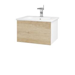 Dřevojas - Koupelnová skříň VARIANTE SZZ 60 (umyvadlo Euphoria) - N01 Bílá lesk / D15 Nebraska (188306)