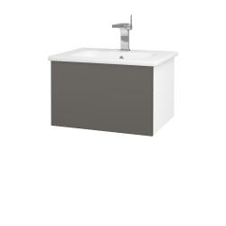 Dřevojas - Koupelnová skříň VARIANTE SZZ 60 (umyvadlo Euphoria) - N01 Bílá lesk / N06 Lava (188368)