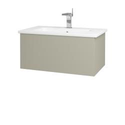 Dřevojas - Koupelnová skříň VARIANTE SZZ 80 (umyvadlo Euphoria) - M05 Béžová mat / M05 Béžová mat (188702)