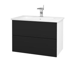 Dřevojas - Koupelnová skříň VARIANTE SZZ2 80 (umyvadlo Euphoria) - N01 Bílá lesk / N08 Cosmo (189006)