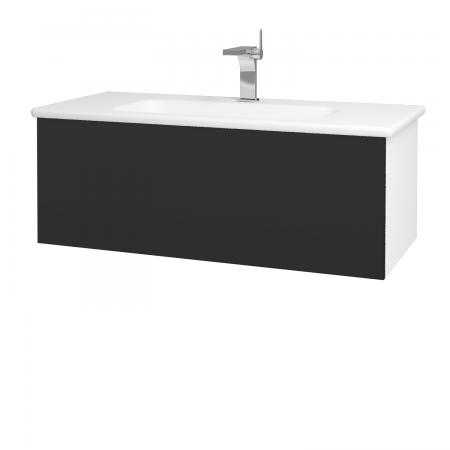 Dřevojas - Koupelnová skříň VARIANTE SZZ 100 (umyvadlo Euphoria) - N01 Bílá lesk / N03 Graphite (190071)