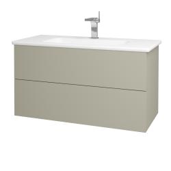 Dřevojas - Koupelnová skříň VARIANTE SZZ2 100 (umyvadlo Euphoria) - M05 Béžová mat / M05 Béžová mat (190200)