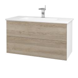 Dřevojas - Koupelnová skříň VARIANTE SZZ2 100 (umyvadlo Euphoria) - N01 Bílá lesk / D17 Colorado (190248)