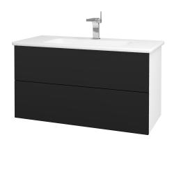 Dřevojas - Koupelnová skříň VARIANTE SZZ2 100 (umyvadlo Euphoria) - N01 Bílá lesk / N08 Cosmo (190309)