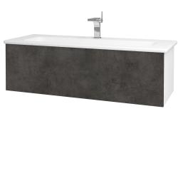 Dřevojas - Koupelnová skříň VARIANTE SZZ 120 (umyvadlo Euphoria) - N01 Bílá lesk / D16 Beton tmavý (190439)