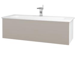 Dřevojas - Koupelnová skříň VARIANTE SZZ 120 (umyvadlo Euphoria) - N01 Bílá lesk / N07 Stone (190491)