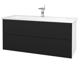 Dřevojas - Koupelnová skříň VARIANTE SZZ2 120 (umyvadlo Euphoria) - N01 Bílá lesk / N08 Cosmo (190705)