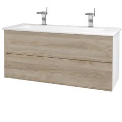 Dřevojas - Koupelnová skříň VARIANTE SZZ2 120 (umyvadlo Euphoria) - N01 Bílá lesk / D17 Colorado (190644U)