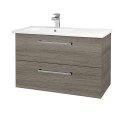 Dřevojas - Koupelnová skříň GIO SZZ2 90 - D03 Cafe / Úchytka T03 / D03 Cafe (202323C)