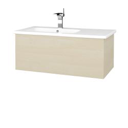 Dřevojas - Koupelnová skříň  VARIANTE SZZ 90 (umyvadlo Euphoria) - D02 Bříza / D02 Bříza (189518)