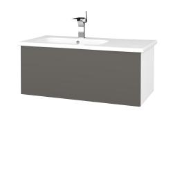 Dřevojas - Koupelnová skříň  VARIANTE SZZ 90 (umyvadlo Euphoria) - N01 Bílá lesk / N06 Lava (189884)