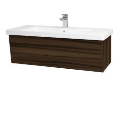 Dřevojas - Koupelnová skříň INVENCE SZZ 100 (umyvadlo Harmonia) - D06 Ořech / D06 Ořech (180331)