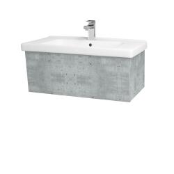 Dřevojas - Koupelnová skříň INVENCE SZZ 80 (umyvadlo Harmonia) - D01 Beton / D01 Beton (178758)