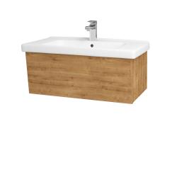 Dřevojas - Koupelnová skříň INVENCE SZZ 80 (umyvadlo Harmonia) - D09 Arlington / D09 Arlington (178819)