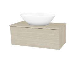Dřevojas - Koupelnová skříň INVENCE SZZ 80 (umyvadlo Triumph) - D04 Dub / D04 Dub (181475)