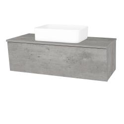 Dřevojas - Koupelnová skříň INVENCE SZZ 100 (umyvadlo Joy) - D01 Beton / D01 Beton (182021)