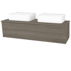 Dřevojas - Koupelnová skříň INVENCE SZZ 125 (2 umyvadla Joy 3) - D03 Cafe / D03 Cafe (185893)