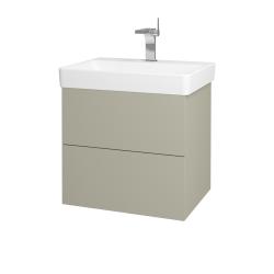 Dřevojas - Koupelnová skříň VARIANTE SZZ2 60 - M05 Béžová mat / M05 Béžová mat (194604)