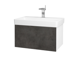 Dřevojas - Koupelnová skříň VARIANTE SZZ 70 - N01 Bílá lesk / D16 Beton tmavý (194833)