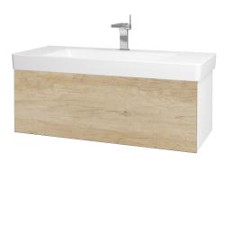 Dřevojas - Koupelnová skříň VARIANTE SZZ 105 - N01 Bílá lesk / D15 Nebraska (195632)