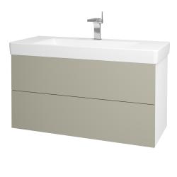Dřevojas - Koupelnová skříň VARIANTE SZZ2 105 - N01 Bílá lesk / M05 Béžová mat (195878)
