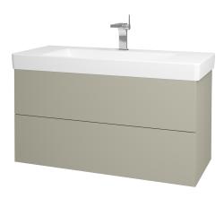 Dřevojas - Koupelnová skříň VARIANTE SZZ2 105 - M05 Béžová mat / M05 Béžová mat (195816)