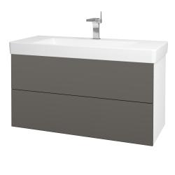 Dřevojas - Koupelnová skříň VARIANTE SZZ2 105 - N01 Bílá lesk / N06 Lava (195892)