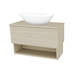 Dřevojas - Koupelnová skříň INVENCE SZZO 80 (umyvadlo Triumph) - D04 Dub / D04 Dub (181185)
