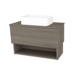 Dřevojas - Koupelnová skříň INVENCE SZZO 80 (umyvadlo Joy) - D03 Cafe / D03 Cafe (179069)