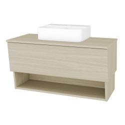 Dřevojas - Koupelnová skříň INVENCE SZZO 100 (umyvadlo Joy 3) - D04 Dub / D04 Dub (182922)