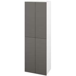 Dřevojas - Skříň vysoká DOS SVD4 50 - N01 Bílá lesk / Bez úchytky T31 / N06 Lava (209353D)