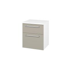 Dřevojas - Skříň spodní DOS SNZ2K  50 - N01 Bílá lesk / Úchytka T03 / M05 Béžová mat (211592C)