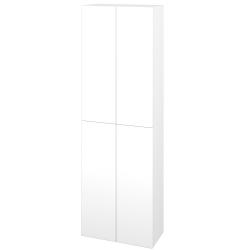 Dřevojas - Skříň vysoká DOS SV1D4 50 - N01 Bílá lesk / Bez úchytky T31 / N01 Bílá lesk (209162D)
