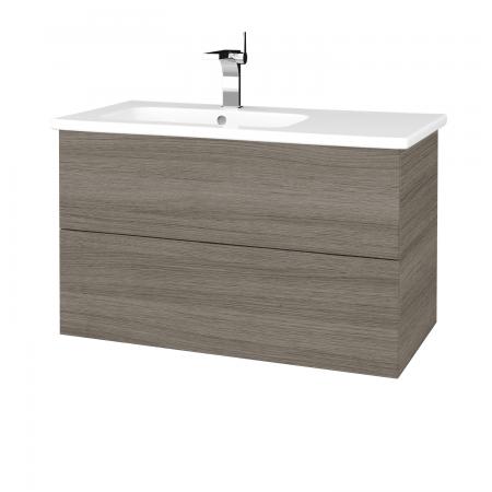 Dřevojas - Koupelnová skříň VARIANTE SZZ2 90 (umyvadlo Euphoria) - D03 Cafe / D03 Cafe (189075)